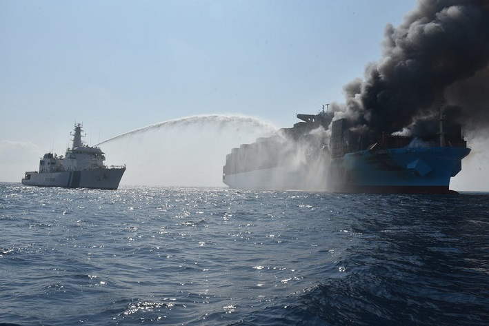 Tàu container thứ 2 của Maersk bị cháy