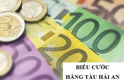 Biểu cước giá bán hàng hóa, dịch vụ của Hãng tàu Hải An niêm yết ngày: 01/11/2020
