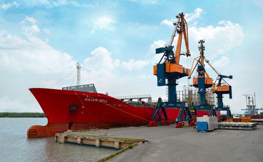 Cảng Hải An đón tàu Haian Bell lần đầu tiên cập cảng làm hàng