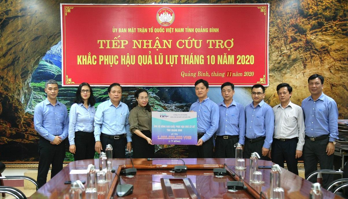HAIAN Group hỗ trợ tỉnh Quảng Bình 1 tỷ đồng cùng nhiều vật dụng thiết thực