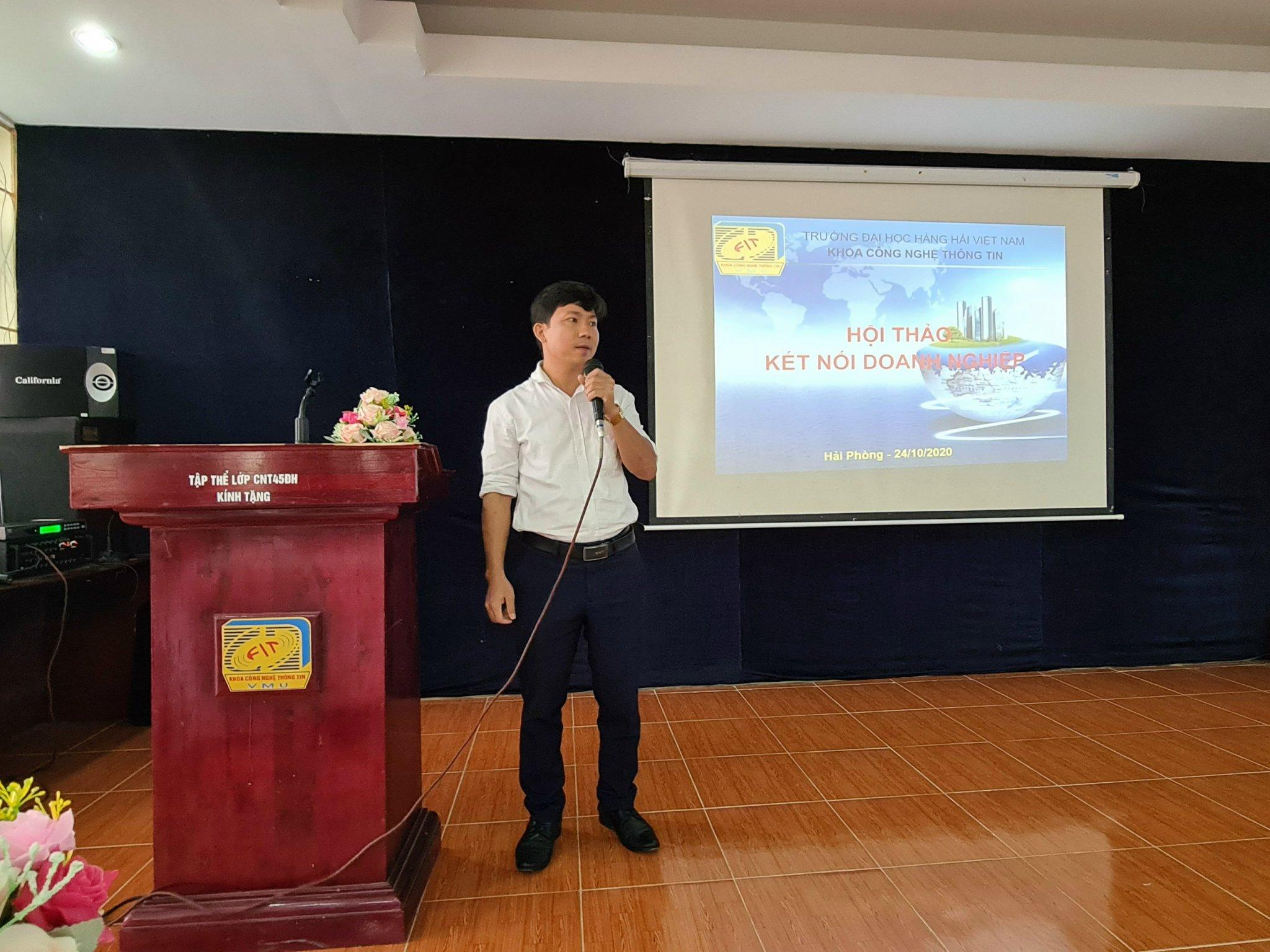 Công ty phối hợp với trường Đại học Hàng hải tuyển dụng nhân sự