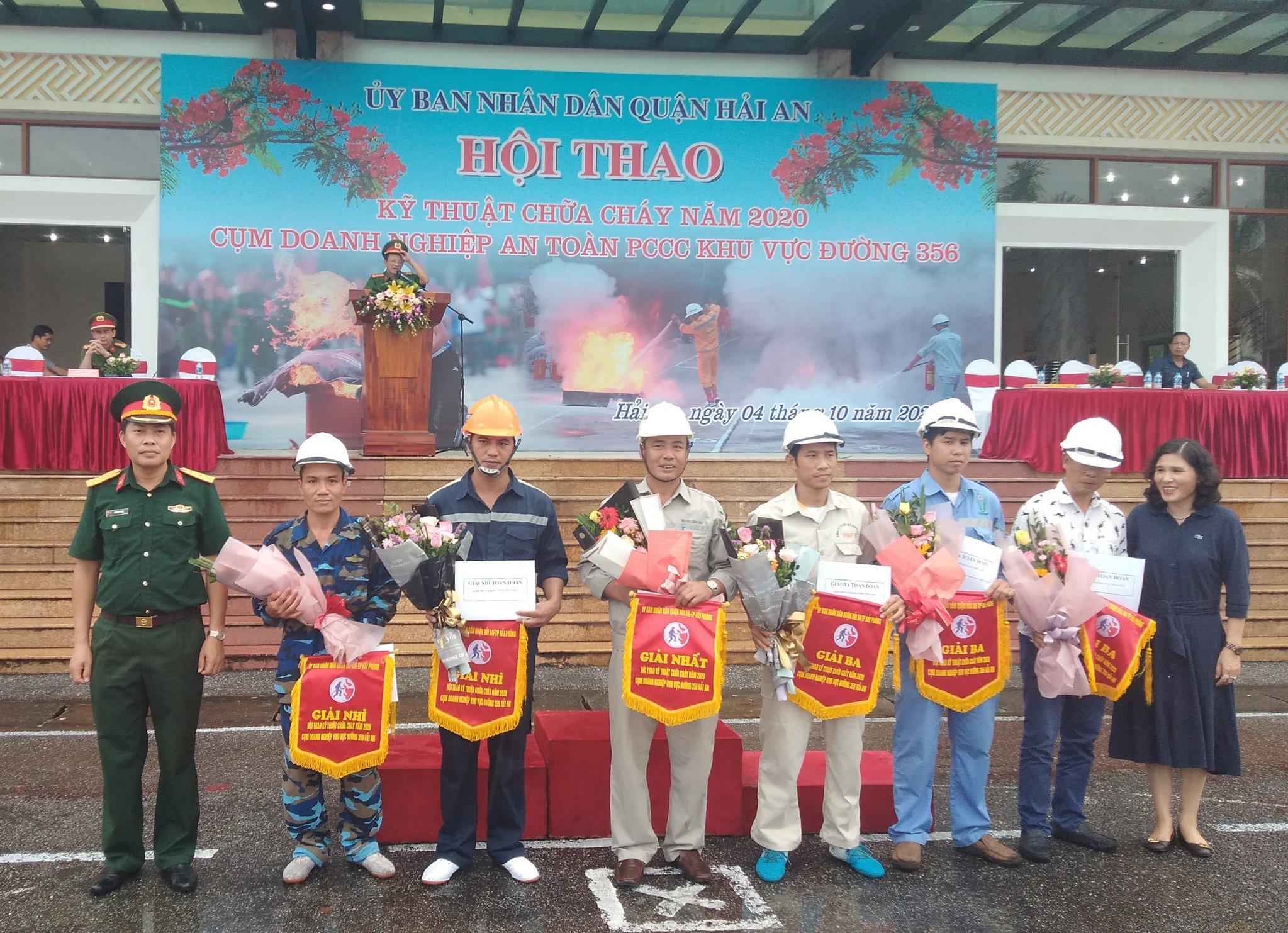 Cảng Hải An giành giải nhất tại Hội thao kỹ thuật chữa cháy Quận Hải An năm 2020